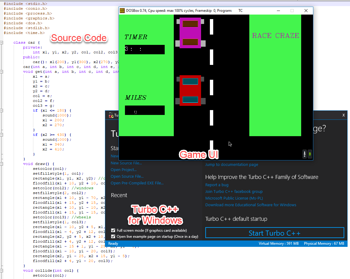 Car Race Game | | C and C++ Programming Resources