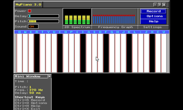 """Graphical Piano – """"My Piano"""" – C++"""