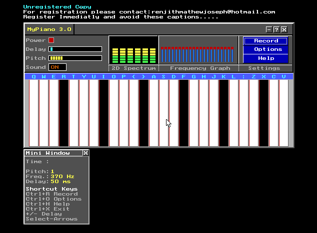 "Graphical Piano – ""My Piano"" – C++"