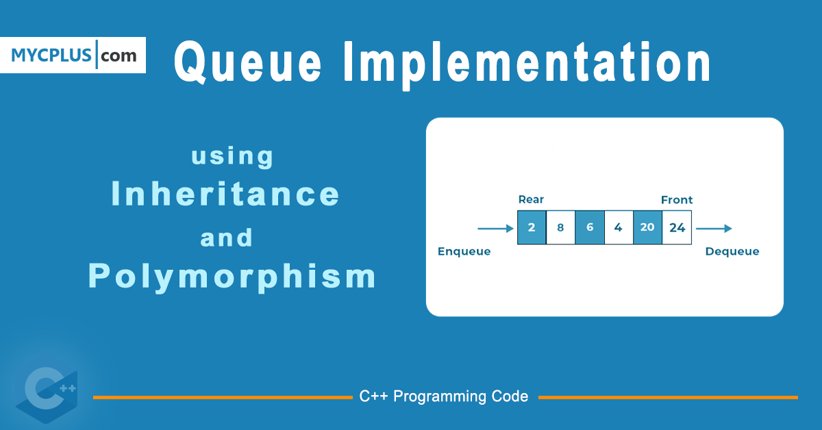 Queue Implementation with Inheritance and Polymorphism