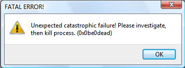 Error Message - Fatal Error
