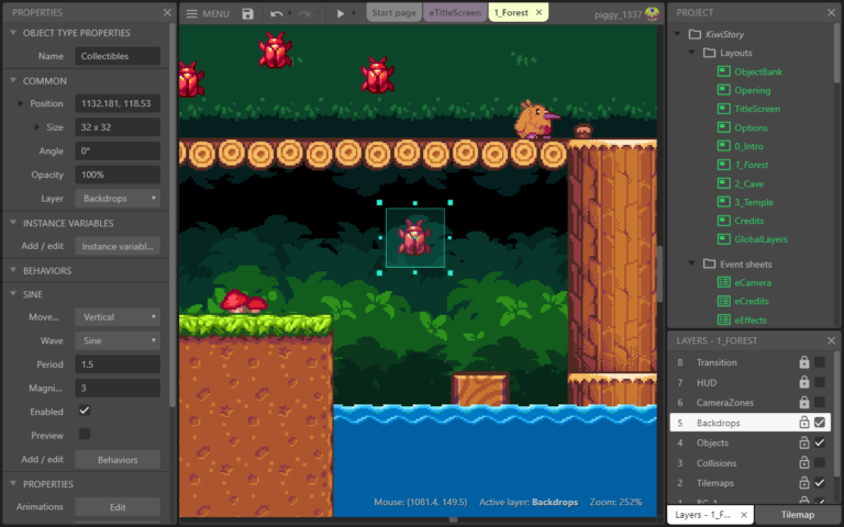 Construct Video Game Engine