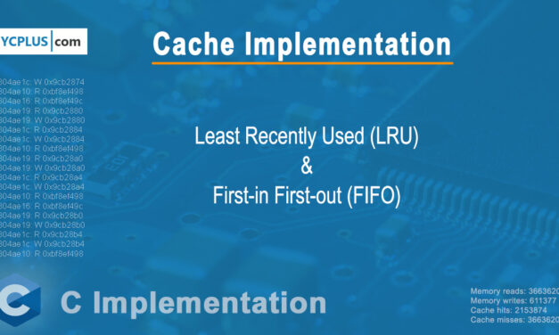 LRU and FIFO L1 Cache Implementation using C