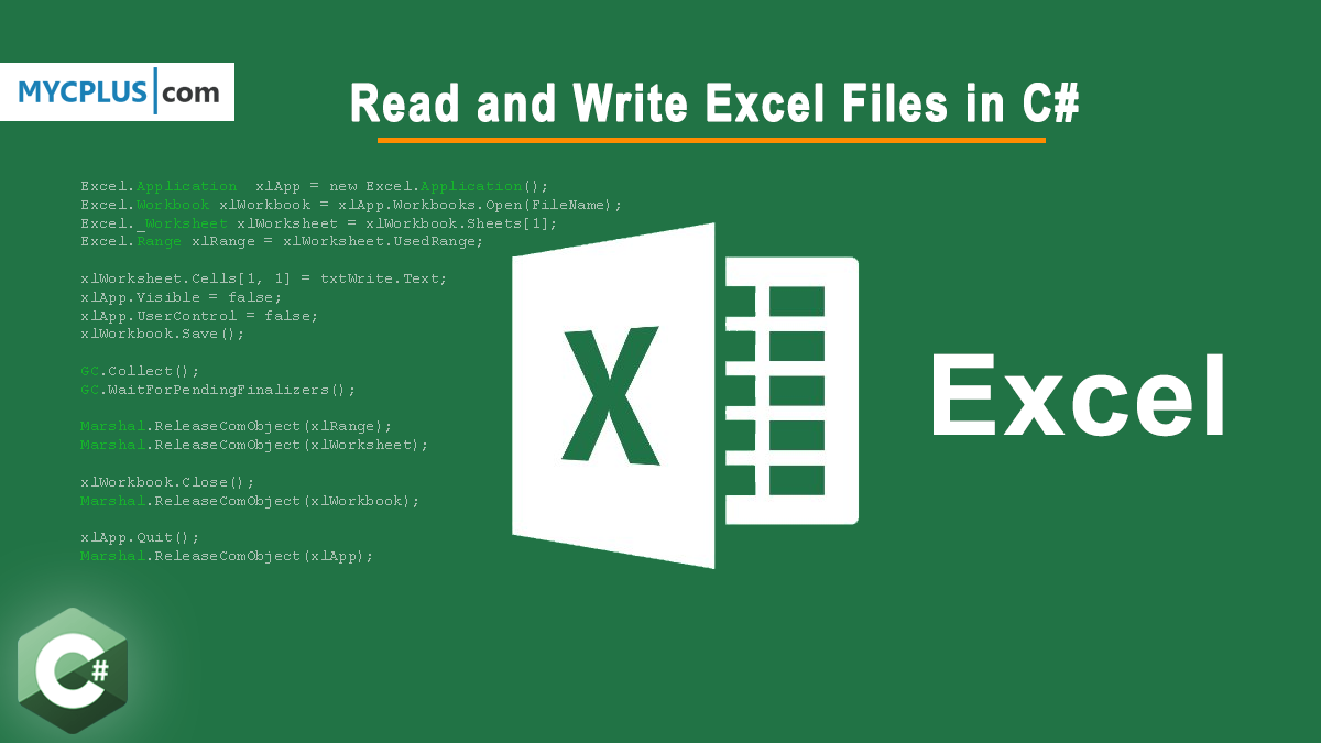 How to Read and Write Excel Files in C#