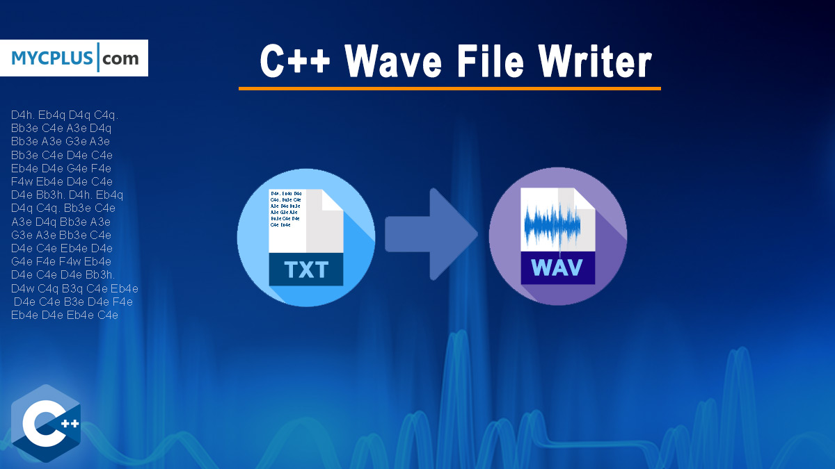 C++ Wave File Writer from Text File