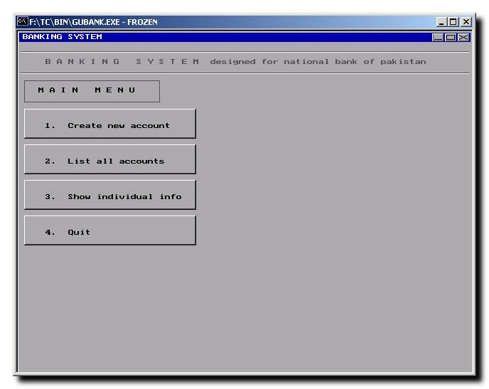 Bank Management System - Accounting Software